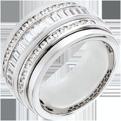 Pierścionek Feeria - Droga Mleczna - 1,58 karata - 48 diamentów - złoto białe 18-karatowe