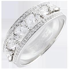 Pierścionek Przeznaczenie - Bizantyjskie - złoto białe 18-karatowe i diamenty