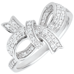 Precious Bow Ring - Silver and diamonds
