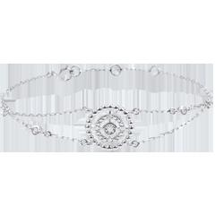 Pulsera Flor de Sal - círculo - oro blanco 9 quilates y diamantes