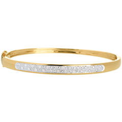 Pulsera junco diorami pasador diamantes - 0.25 quilates - 23 diamantes