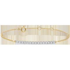 Pulsera Oro Amarillo Resplandeciente - 15 Diamantes