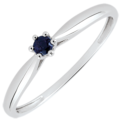 Reed Solitaire Engagement Ring - 6 claws - 0.07 carat sapphire - white gold 18 carats