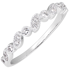 Regard Levant - variation - 18K white gold and diamonds