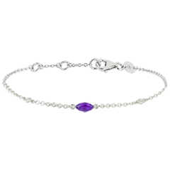 Regard d'Orient bracelet - amethyst and diamonds -white gold 9 carats