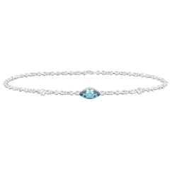 Regard d'Orient bracelet - blue topaz and diamonds -white gold 9 carats