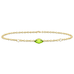 Regard d'Orient bracelet - peridot and diamonds - white gold 9 carats