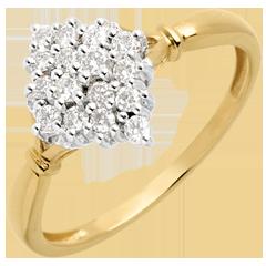 Rhombus ring paved - 0.33 carat - 16diamonds