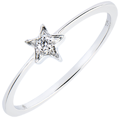 Ring Abundance- My star - white gold 18 carats and diamond