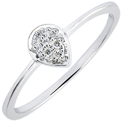 Ring Abundance - Precious Drop - white gold 18 carats and diamonds