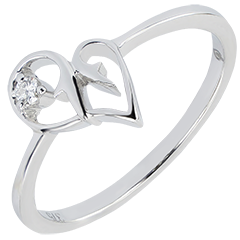Ring Abundance - Temptation - white gold 9 carats and diamond