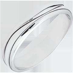Ring Amour - Herren Trauring in Weißgold - 9 Karat