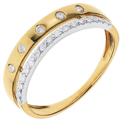 Ring Betovering - Crown of Stars - klein model - geel goud