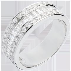 Ring Betovering - Erfgename betegeld wit goud - 0.88 karaat - 44 diamanten