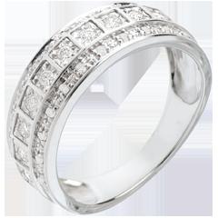 Ring Betovering - Galaxie - 0,28 karaat - 33 Diamanten - 18 karaat witgoud