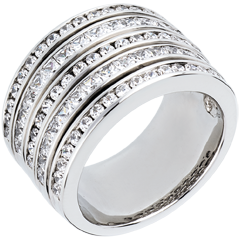 Ring Betovering - Melkweg - wit goud geplaveid - 2,42 karaat - 81 diamanten