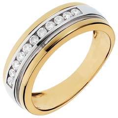 Ring Betovering - Solar - 0.24 karaat - 11 diamanten