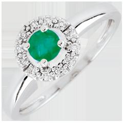 Ring Clevia - smaragd - 9 karaat witgoud