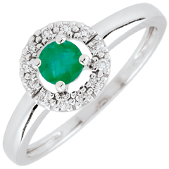 Ring Clevia – smaragd