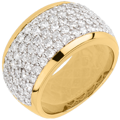 Ring Constellation - Celestial Landscape - yellow gold paved - 2.05 carat - 79 diamonds