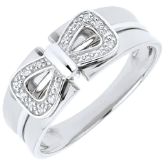 Ring Corset Knot - White gold