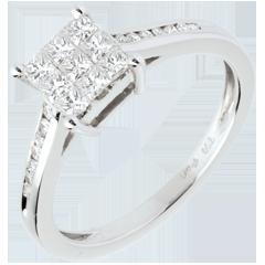 Ring Damier in Weissgold - 0.48 Karat