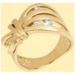 Ring Denkbeeldige Balade - Camouflage - Geel goud
