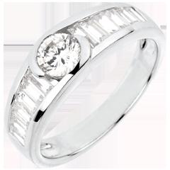 Ring Destiny - Aphrodite Solitaire - 0.46 karaat Diamant witgoud