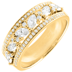 Ring Destiny - Byzantine - yellow gold and diamonds - 18 carat