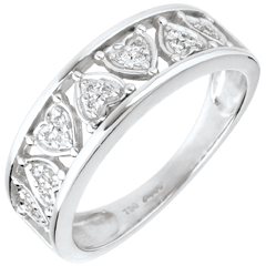 Ring Destiny - Clothilde - 18 karaat witgoud