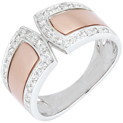 Ring Destiny - Imperial - rose gold, white gold and diamonds