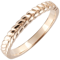 Ring Enchanted Garden - Braid - rose gold - 18 carat
