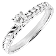 Ring Enchanted Garden - Braid Solitaire - white gold - 0.2 carat - 18 carat