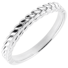 Ring Enchanted Garden - Braid - white gold - 9 carat