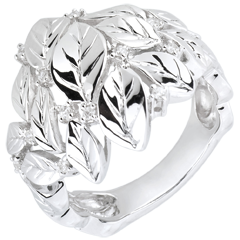 Ring Enchanted Garden - Precious Dew white gold