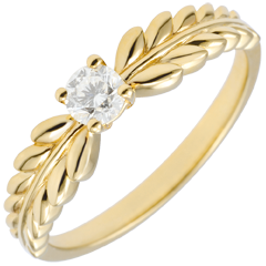 Ring Enchanted Garden - Solitaire Fresia - yellow gold - 0.20 carat - 18 carat