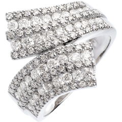 Ring Enchantment - Scarf paved - 1.1 carat - 108 diamonds