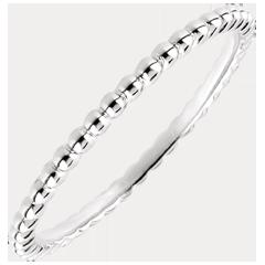 Ring Gezouten Bloem - wit goud - 18 karaat