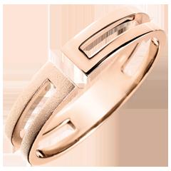 Ring Gloria - geborsteld roze goud 9 karaat