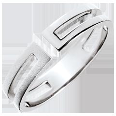 Ring Gloria - geborsteld wit goud 9 karaat