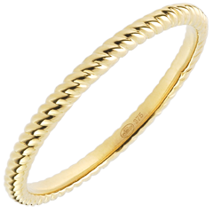 Ring Golden Rope - yellow gold