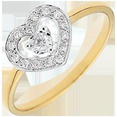 Ring Herz Tiphanie - zweier Goldlegierungen