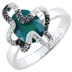 Ring Imaginary Walk - Medusa - Silver, diamonds and fine stones