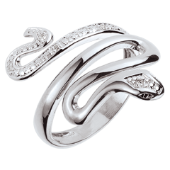 Ring Imaginary Walk - Precious Menace - White Gold and diamonds - 9 carats
