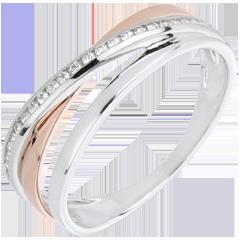 Ring Kränze Variation - Rosé- und Weißgold - Diamanten