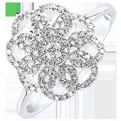 Ring Lentekriebels - Arabesk - 9 karaat witgoud met Diamanten