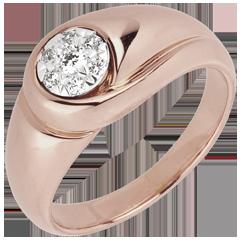 Ring Lentekriebels - Knop - 18 karaat rozégoud