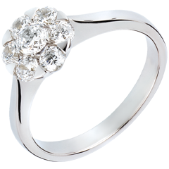 Ring Lentekriebels - Magnolia - 18 karaat witgoud - 0,88 karaat - 7 Diamanten