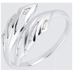 Ring Lentekriebels - Palmen - 18 karaat witgoud