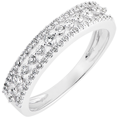 Ring Leven - Diane - wit goud 9 karaat en diamanten